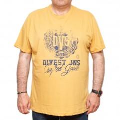 Tricou galben cu imprimeu la baza gatului 70-120 xxlbigsize