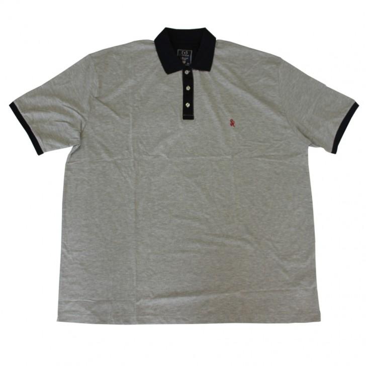 Tricou gri cu guler 6XL-9XL