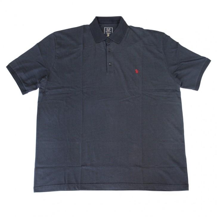 Tricou negru cu imprimeu si cu guler 6XL-9XL